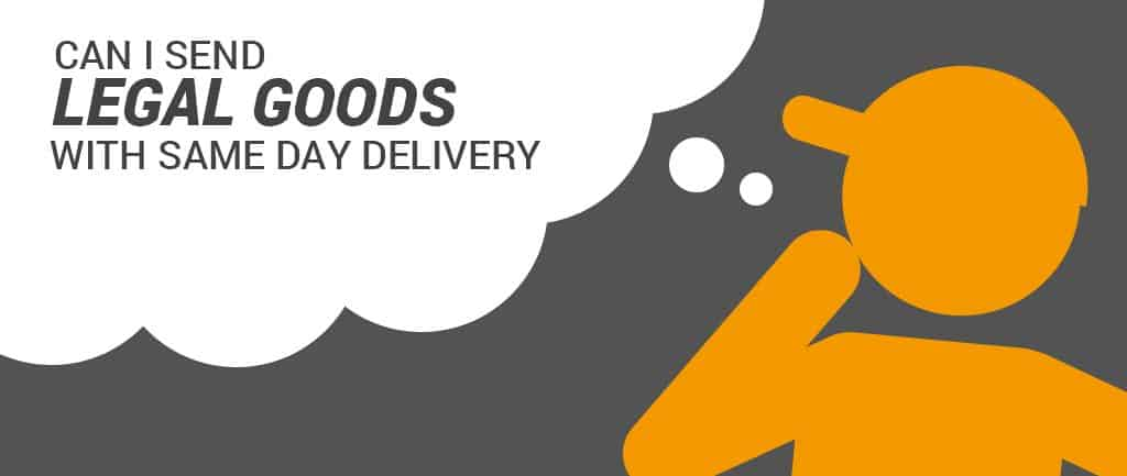 Can I Send Legal Goods With Same Day Delivery?